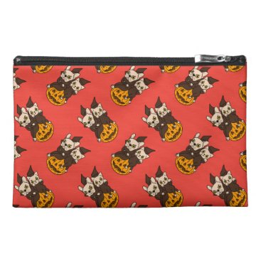 Halloween Themed Cute Frenchie and kitten are Halloween buddies Travel Accessory Bag
