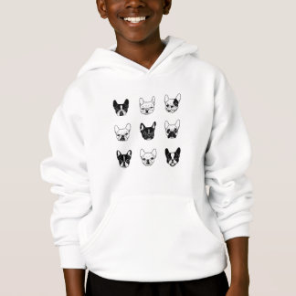 Cute Frenchies Doggie Family Collage Hoodie