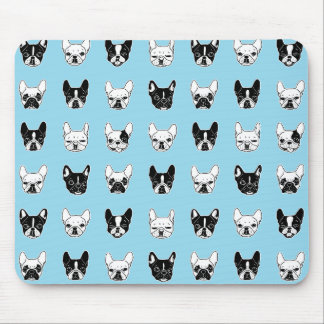 Cute Frenchies Doggie Family Collage Mouse Pad