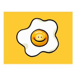 Cute fried egg postcard
