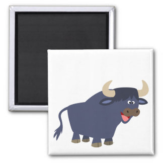 Cute Friendly Cartoon Bull Magnet