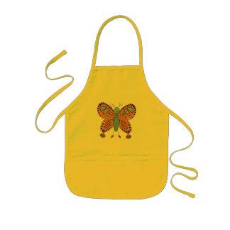 Cute friendly cartoon butterfly illustration kids' apron