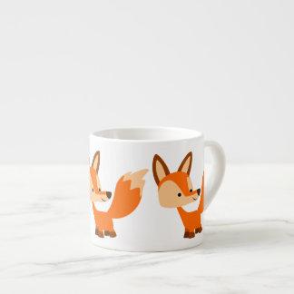 Cute Friendly Cartoon Fox Espresso Mug