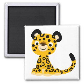 Cute Friendly Cartoon Jaguar Magnet