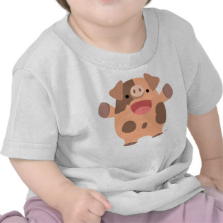 Cute Friendly Cartoon Pig Baby T-shirt