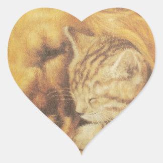 Cute Friendly Cat & Dog Hakuna Matata Gift Relatio Heart Sticker