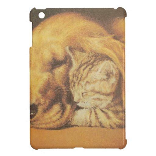 Cute Friendly Cat & Dog Hakuna Matata Gift Relatio iPad Mini Covers