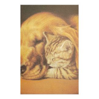 Cute Friendly Cat & Dog Hakuna Matata Gift Relatio Stationery Paper