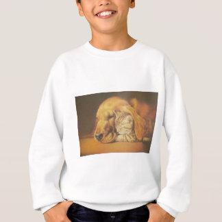 Cute Friendly Cat & Dog Hakuna Matata Gift Relatio Sweatshirt