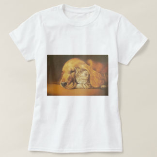 Cute Friendly Cat & Dog Hakuna Matata Gift Relatio T-Shirt