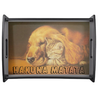 Cute Friendly Cat & Dog Hakuna Matata Gift Tray