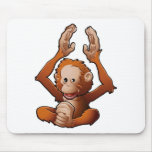 cute friendly Orangutan Mouse Pads