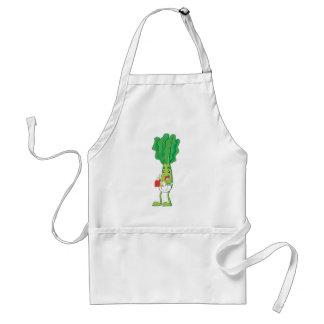 Cute Friendly Veggie Waiter Adult Apron