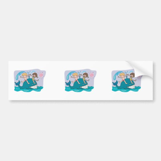 cute friendly whale bumper sticker