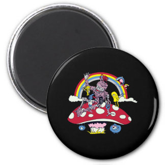 cute friendly zombie bliss vector cartoon 2 inch round magnet