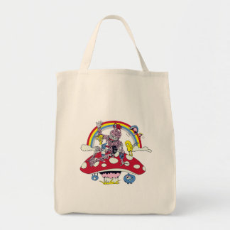 cute friendly zombie bliss vector cartoon grocery tote bag