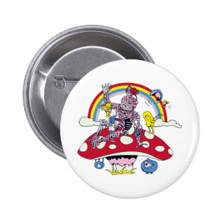 cute friendly zombie bliss vector cartoon 2 inch round button