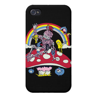 cute friendly zombie bliss vector cartoon cases for iPhone 4