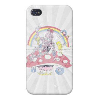 cute friendly zombie bliss vector cartoon iPhone 4 cases