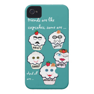 Cute friends cupcakes iphone covers iPhone 4 cover