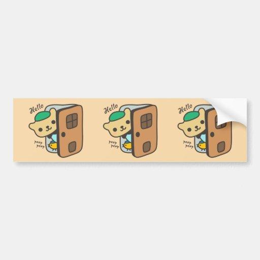 Cute Friends Sleepover Car Bumper Sticker
