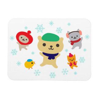 Cute Friends Winter Party Magnet