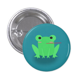 Cute frog 1 inch round button
