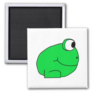 Cute Frog. 2 Inch Square Magnet