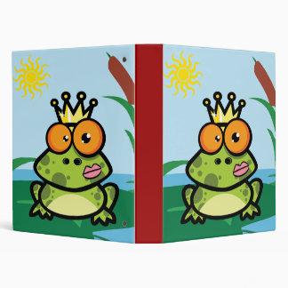 Cute Frog 3 Ring Binder