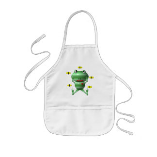 Cute frog and flies apron