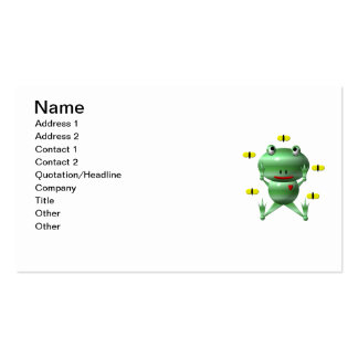 Cute frog and flies! Double-Sided standard business cards (Pack of 100)