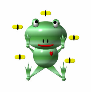 Cute frog and flies! statuette