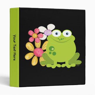 Cute Frog and Flowers Binder