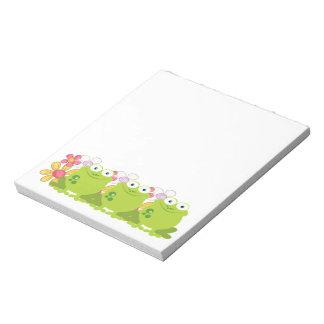 Cute Frog and Flowers Memo Pad