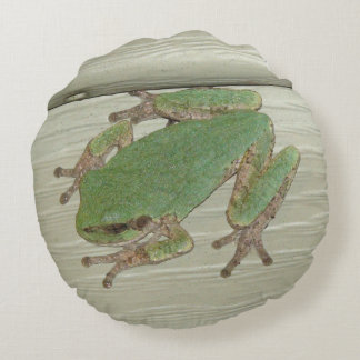 Cute Frog and Lilly pad Throw Pillow