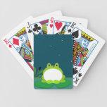 Cute frog bicycle card deck