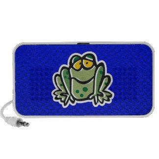 Cute Frog; Blue iPod Speaker