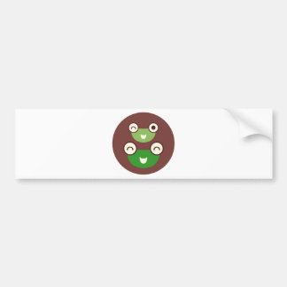 cute frog bumper sticker
