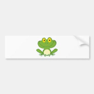 Cute Frog Cartoon Character Bumper Sticker