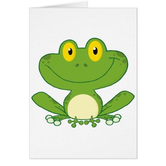 Cute Frog Cartoon Character Card