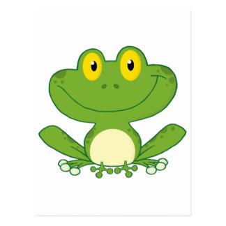 Cute Frog Cartoon Character Postcard