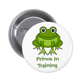 Cute Frog Cartoon - Prince in Training 2 Inch Round Button