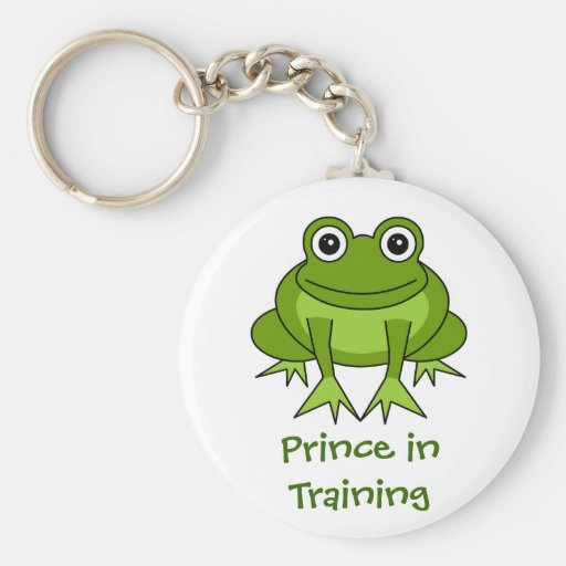 Cute Frog Cartoon - Prince in Training Keychains