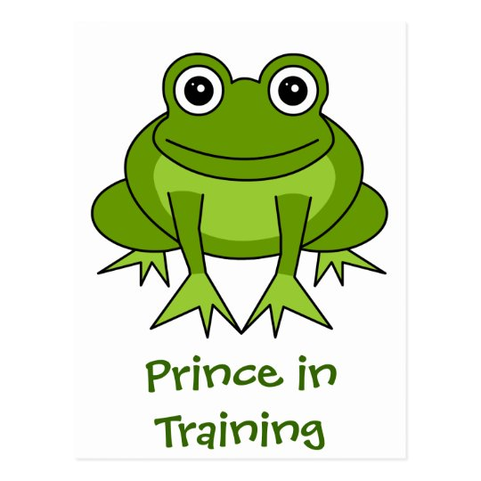 Cute Frog Cartoon - Prince in Training Postcard