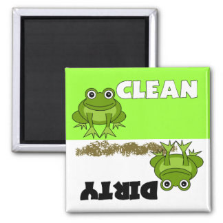 Cute Frog Clean / Dirty Dishwasher Magnet