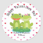 Cute Frog Couple Valentine Stickers