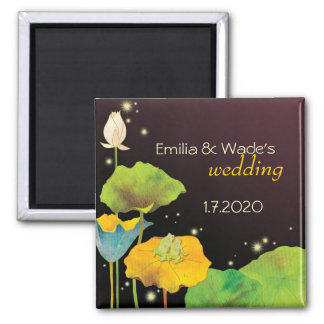 Cute Frog Couple Wedding Save the Date Magnet