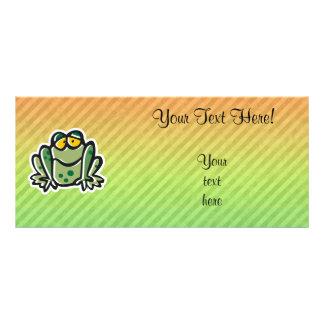 Cute Frog Design Customized Rack Card