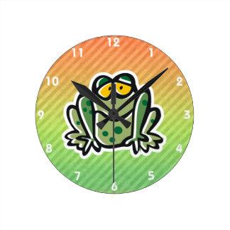 Cute Frog Design Wall Clock