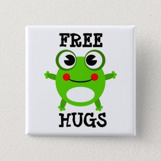 Cute Frog, Free Hugs Button